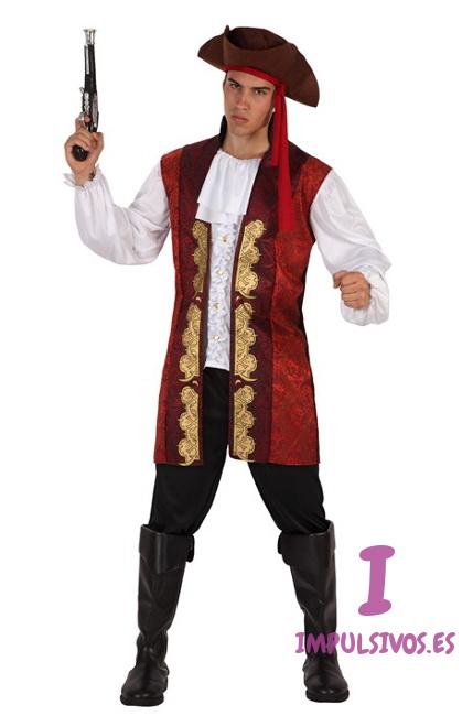Disfraz de capitán pirata para hombre por 22,50