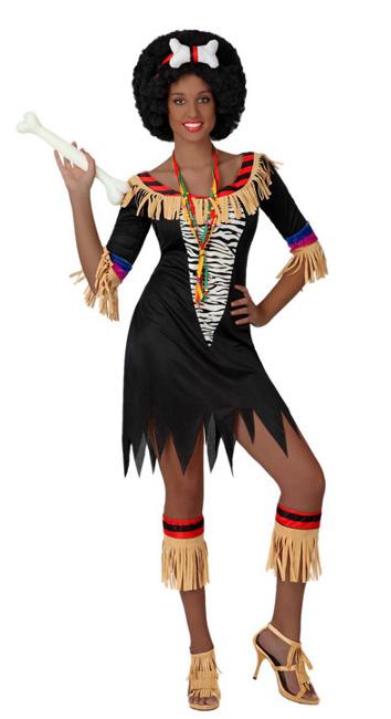 fuera de africano disfraz