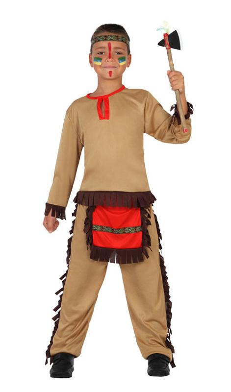 Disfraz Indio Americano Para Nino En Tallas 3 A 12 Anos - Disfraz-india-americana
