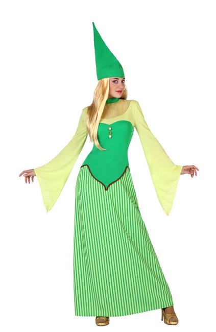 disfraz de duende verde para mujer