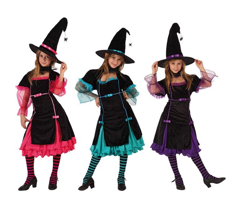 Disfraces de brujo y bruja baratos