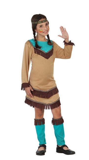 Disfraz De Indio Americano Azul Para Nina Por 1125 - Disfraz-india-americana