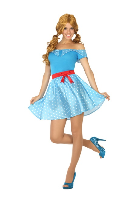 Disfraz años 50 azul para mujer 4b40ab9b8ad6