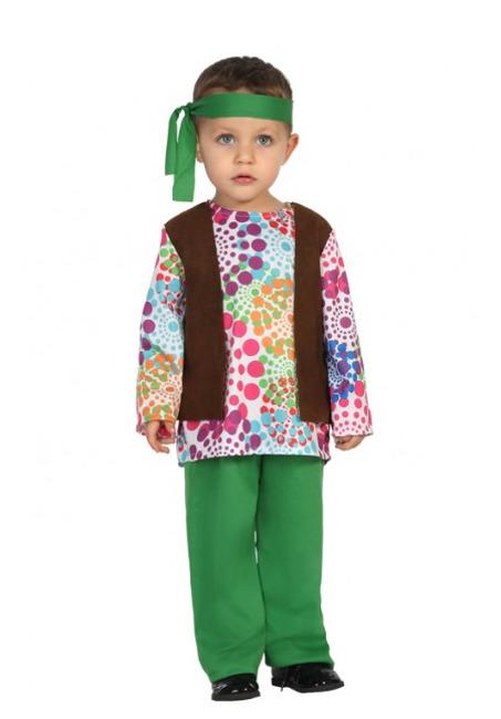 122b0aba1 Disfraz de hippie años 70 psicodélico para bebé niño