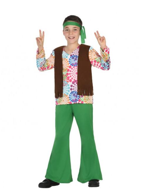 Disfraz de hippie a os 70 psicod lico para ni o - Disfraces para bebes de un ano ...