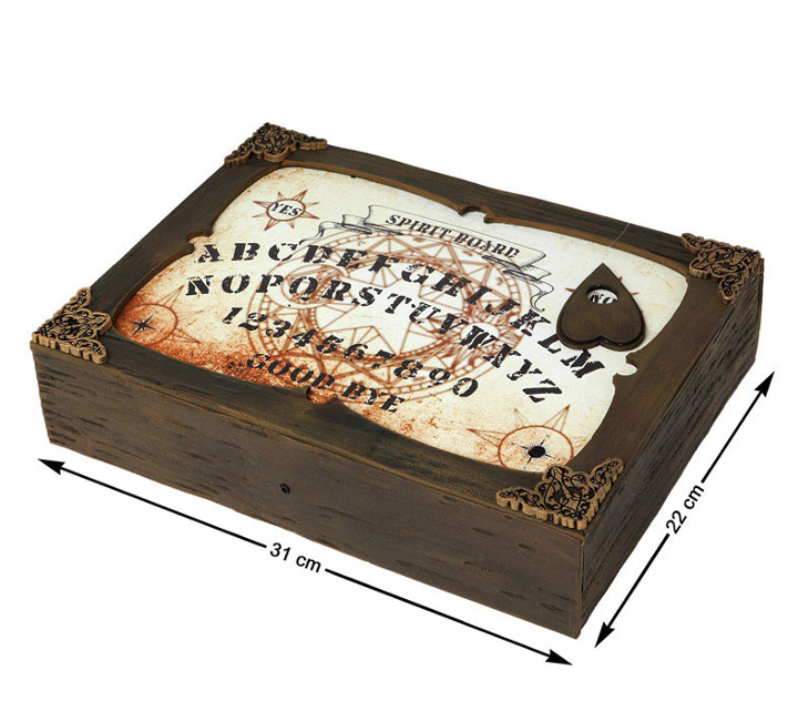Vista frontal del ouija en stock