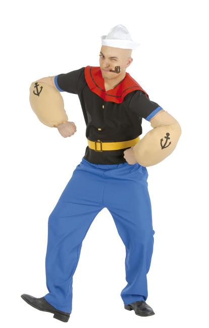 Disfraz de popeye para hombre en talla m l y xl por 22 00 - Disfraz marinera casero ...