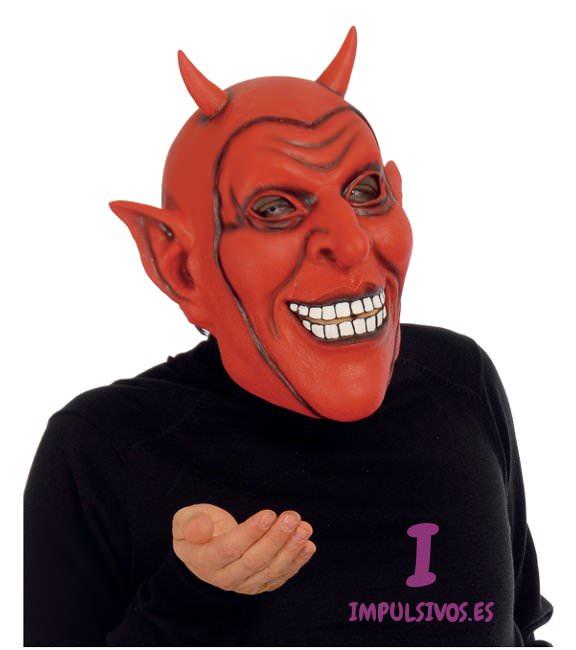 M scara de diablo de latex todo tipo de complementos de for Cara pintada diablo