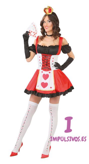 disfraz mujer reina de corazones