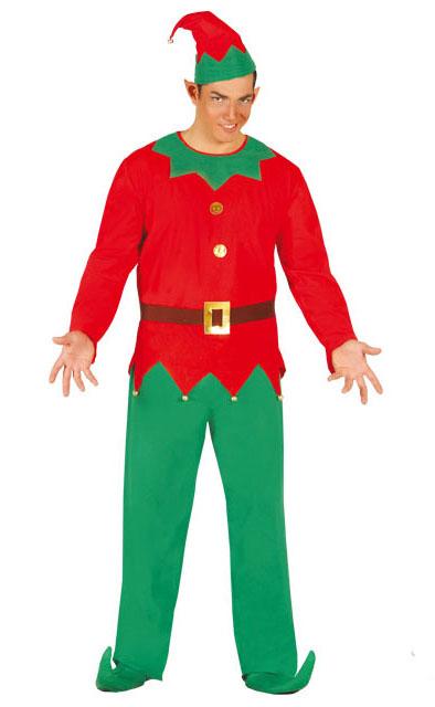 Disfraz de elfo para hombre en talla nica por 15 25 - Disfraces navidenos originales ...