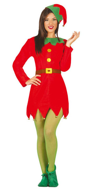 Compra tu disfraz de elfo para mujer por 11 25 - Disfraces para navidad ...