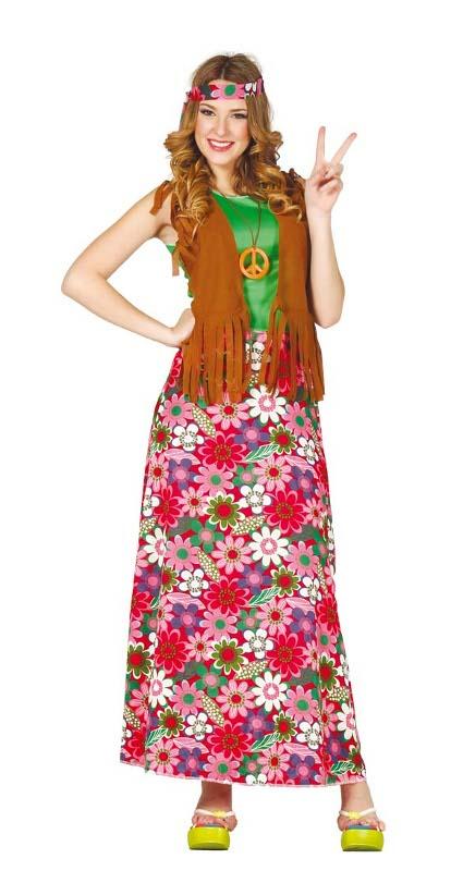 6d86a8092e3c Disfraz de hippie con flores para adulta