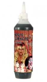 Vista delantera de bote de sangre artificial 450 ml en stock