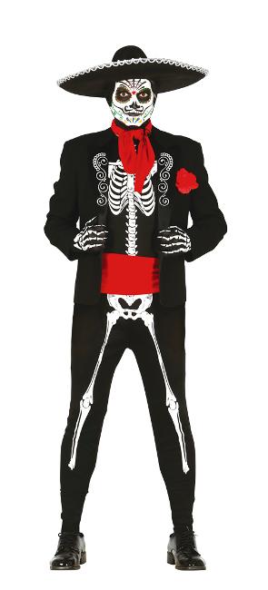 Disfraz De Esqueleto Catrina Para Hombre Por 1995