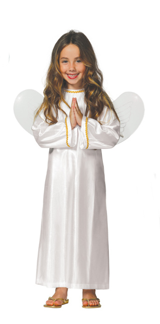 Disfraz de ngel blanco infantil en tallas 3 a 12 a os - Disfraces de angel para nina ...