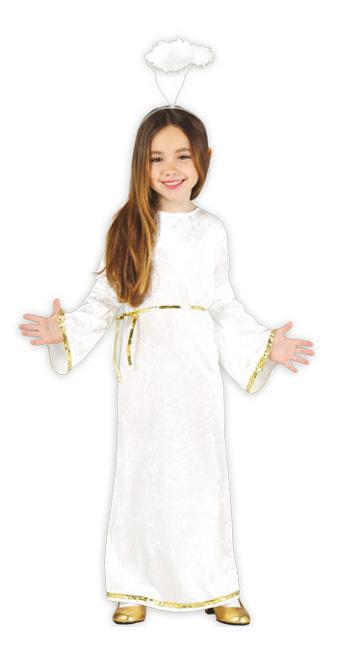Disfraz de ngel blanco con corona infantil por 1225