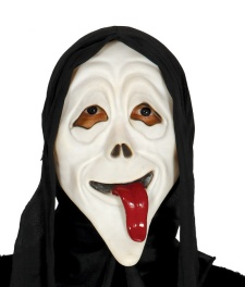 Vista delantera de careta de Scary Movie en stock