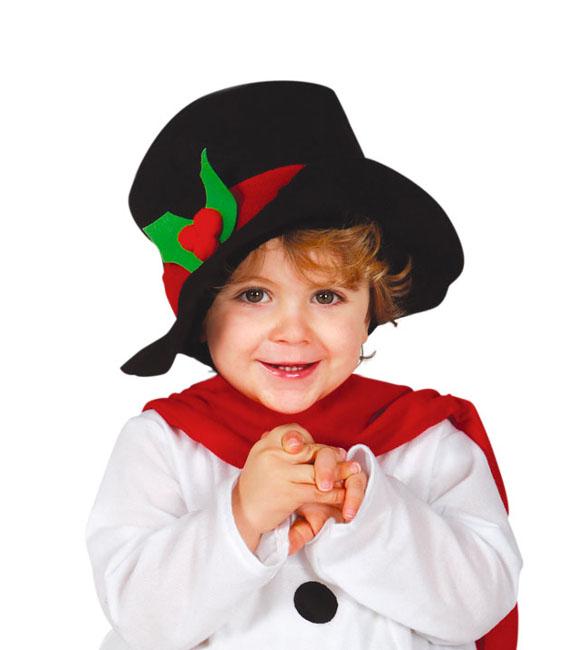 Vista delantera del disfraz de muñeco de nieve con bufanda y gorro en  tallas 6 a. Foto lateral trasera del modelo de muñeco 07800adaa09