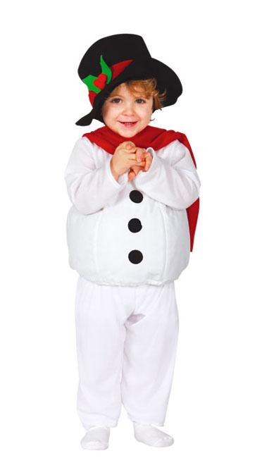 Disfraz de muñeco de nieve con bufanda y gorro para bebé c478b786129