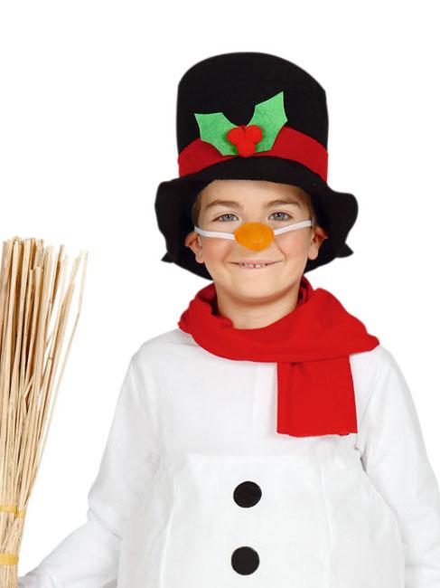 Disfraz de muñeco de nieve con bufanda y gorro infantil 6d325de8ea8