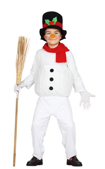Vista delantera del disfraz de muñeco de nieve en tallas 3 a 12 años f7229b26aea