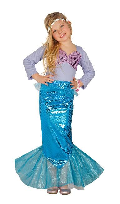 Compra tu disfraz de sirena con cola para niña por 18