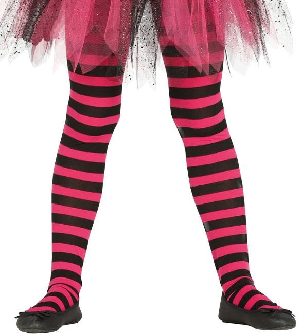37589d4c1 Pantys para niña rosas y negras a rayas