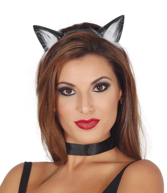 37f7736d958 Cinta con orejas de gato negro por 4