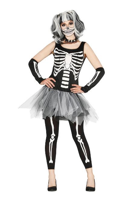 ebbc437fb Disfraz de esqueleto con tul para mujer