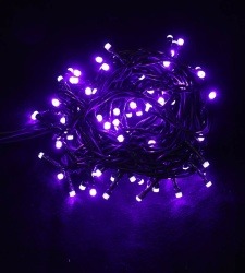 Guirnalda de 100 luces led lilas - 6,50 m