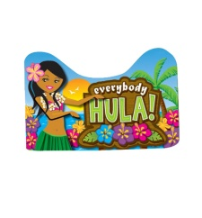 Cartel decorativo hawaiano Hula - 50 x 31 cm