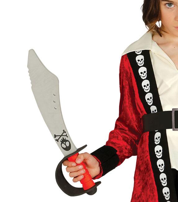 f3a30403158 Vista delantera del espada pirata de goma eva - 43 cm