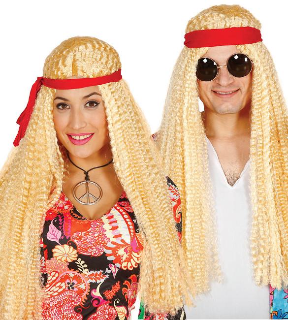 ca8e8a91c9 Peluca hippie rubia con cinta en stock por 12,25 €