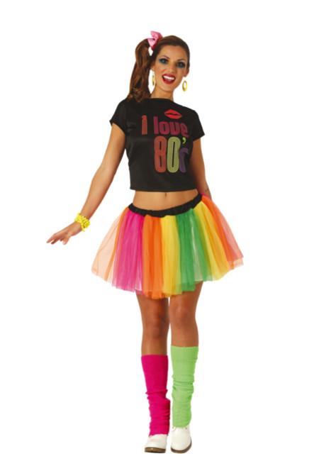 Disfraz de los años 80 pop para mujer barato