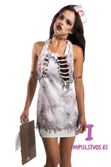 Disfraz de enfermera asesina seleccin de disfraces de enfermera zombie