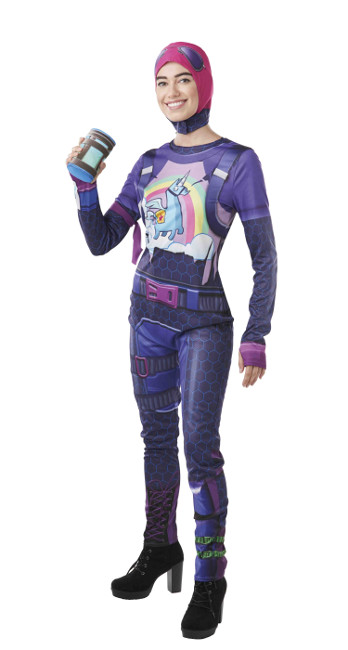 Vista frontal del disfraz de Brite Bomber Fortnite en stock