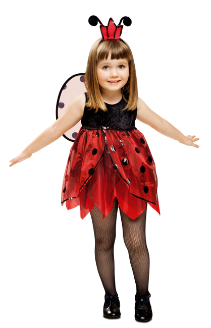 Disfraz rojo de mariquita para ni a por 17 25 - Disfraz de mariquita bebe ...