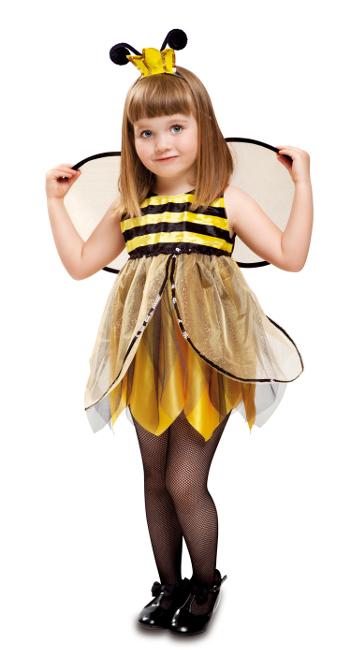 vista delantera del disfraz de abeja hada en stock