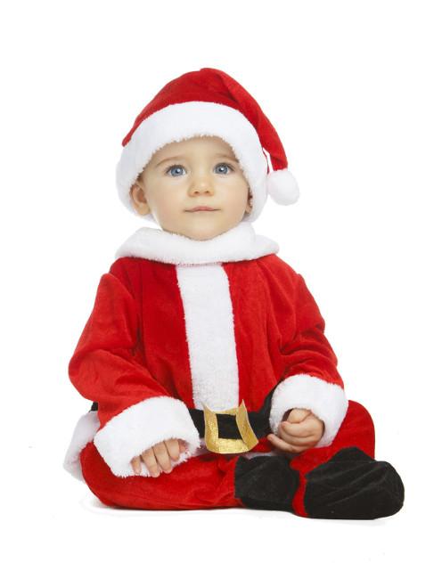 Disfraz de pap noel con mono y gorro para beb - Disfraz de santa claus para nino ...
