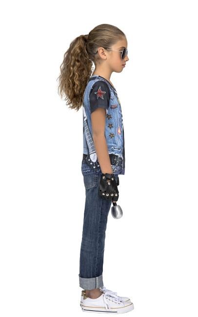 una gran variedad de modelos clásico boutique de salida Camiseta disfraz de esqueleto rockero infantil