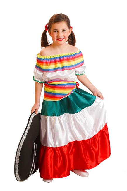 ff297a1bc6004 Vista principal del disfraz de mariachi blanco en tallas 3 a 10 años
