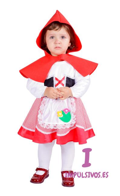 Disfraz completo de caperucita para beb con capa roja - Disfraz bebe caperucita roja ...