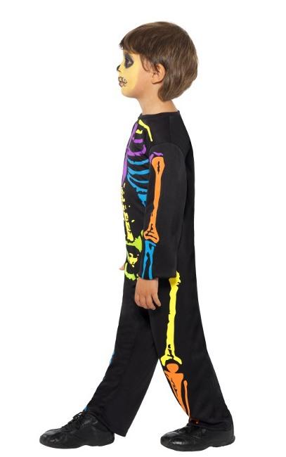 Compra tu disfraz de esqueleto de colores para niño