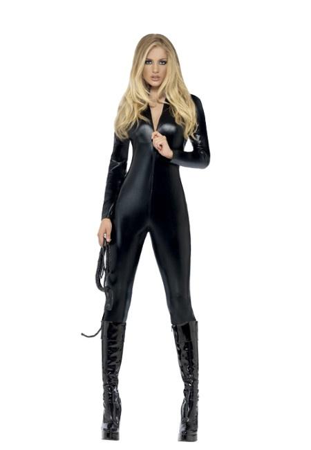 ae3f40b26f3c Disfraz de mujer gato con mono negro para mujer