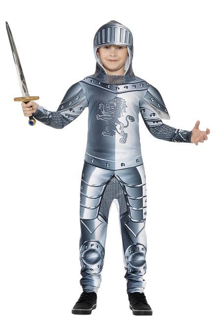 61def6873 Disfraz de caballero medieval con armadura infantil