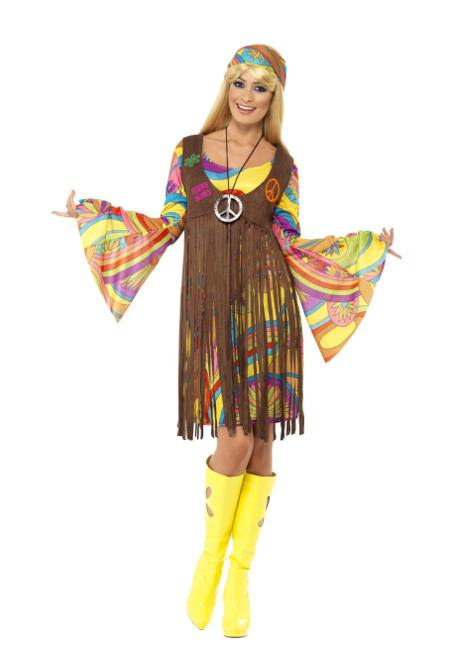 279092600010 Disfraz de hippie de los años 60 para mujer
