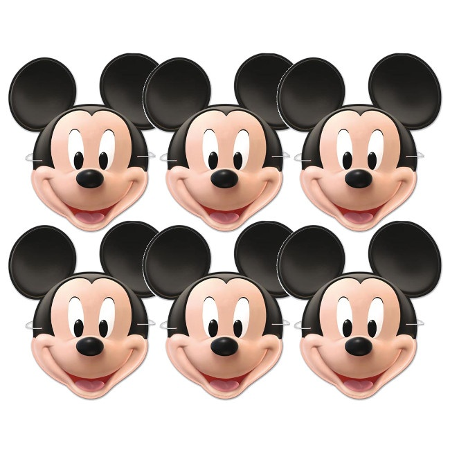 Vista frontal del caretas de Mickey Mouse - 6 unidades en stock