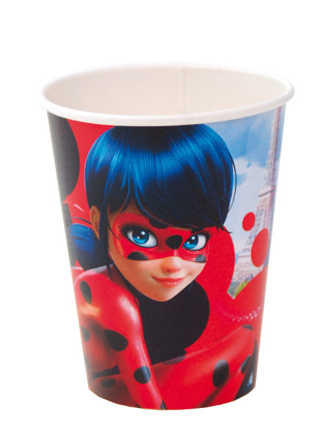 Vista frontal del vasos de Ladybug de 266 ml - 8 unidades en stock