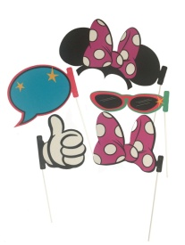 Kit para photocall de Minnie - 5 unidades