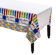 Mantel de Happy Birthday Arcoiris
